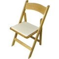 Rental store for Natural Wood Folding Chair in Wilmington NC
