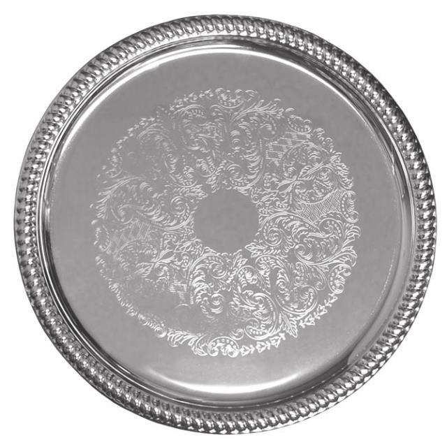 Where to find Serving Tray 14  Round Embossed Chrm in Wilmington